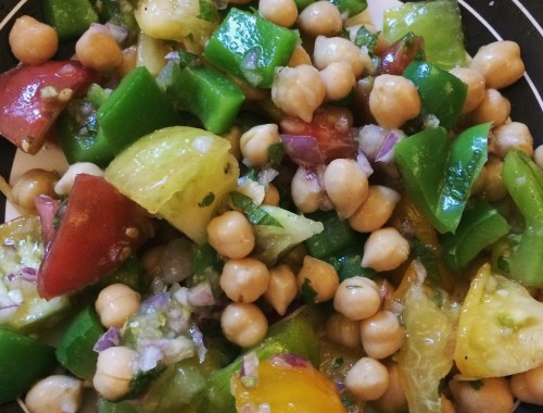 salade-pois-chiches-tomates